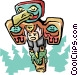 Totem pole Vector Clipart graphic