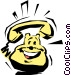 Cartoon telephone Vector Clipart image