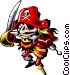 Cartoon pirate Vector Clipart picture