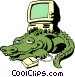 Cartoon alligator with Vector Clip Art image