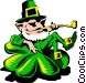Cartoon leprechaun Vector Clipart illustration