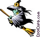 Cartoon witch Vector Clipart image