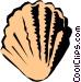 Scallop shell Vector Clip Art graphic