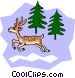 White-tailed cartoon deer Vector Clipart image