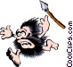 Cartoon cavemen Vector Clip Art image