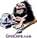Cartoon cavemen Vector Clip Art picture
