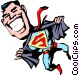 Cartoon Super heroes Vector Clipart illustration