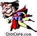 Cartoon super hero Vector Clip Art image