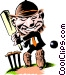 Cricket player Vector Clipart picture