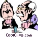 Cartoon poker players Vector Clip Art picture