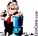 Cartoon man at water cooler Vector Clipart picture