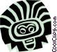 Aztec people designs Vector Clipart image