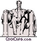 Lincoln Memorial Vector Clipart graphic