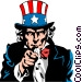 Uncle Sam Vector Clipart illustration
