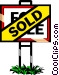 Real estate - Sold sign Vector Clip Art image