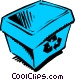 Blue box Vector Clip Art image