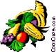 Cornucopia with fresh vegetables Vector Clipart picture