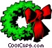 Christmas wreath Vector Clipart graphic