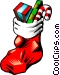 Christmas stocking Vector Clipart graphic