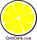 Lemon slice Vector Clipart graphic