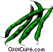 Green Beans Vector Clipart image