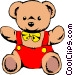 Teddy bears Vector Clip Art image