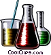 Pyrex beakers Vector Clipart illustration