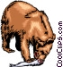 Grizzly bear eating a salmon Vector Clip Art picture
