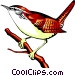 Carolina wren Vector Clipart graphic