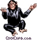 Chimpanzee Vector Clipart graphic