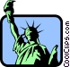 Statue of Liberty Vector Clipart illustration