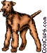 Terrier dog Vector Clip Art image