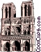 Notre Dame Cathedral Vector Clipart graphic