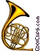 French horn Vector Clipart picture