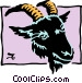 Sign of the zodiac - Capricorn Vector Clipart image