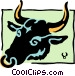 Sign of the zodiac - Taurus Vector Clipart picture