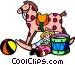 Children's toys Vector Clip Art image