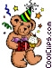 Party bear Vector Clipart illustration