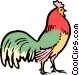 Cartoon rooster Vector Clipart graphic