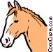 Cartoon horse Vector Clipart graphic