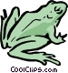 Cartoon frog Vector Clip Art graphic