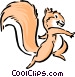 Cartoon squirrel Vector Clipart illustration