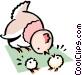 Cartoon chicken Vector Clipart illustration