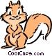 Cartoon squirrel Vector Clip Art image