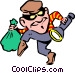 Thief Vector Clipart illustration