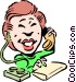 Cartoon receptionist Vector Clip Art picture