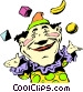 Cartoon circus clown Vector Clip Art image