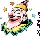 Cartoon clown Vector Clip Art image