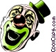 Cartoon clown Vector Clip Art graphic