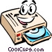 Cartoon CD-ROM drive Vector Clip Art image